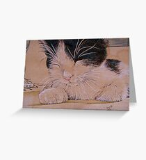 Nap Time for Bobbie Greeting Card