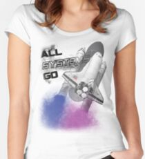 all systems go Women's Fitted Scoop T-Shirt