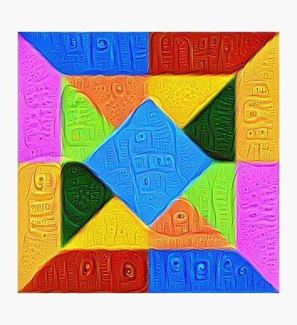 DeepDream Color Squares Visual Areas 5x5K v1447926834 Photographic Print