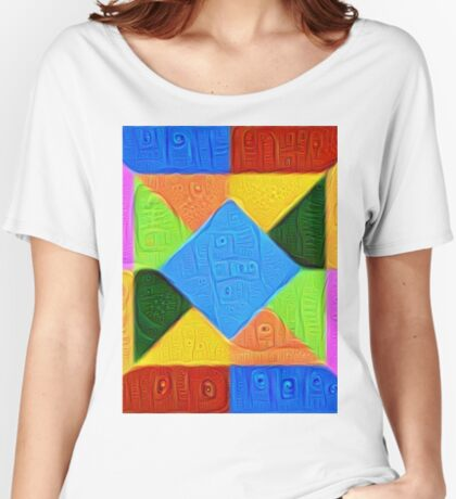 DeepDream Color Squares Visual Areas 5x5K v1447926834 Relaxed Fit T-Shirt