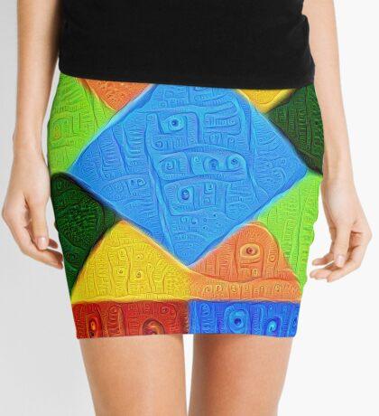 DeepDream Color Squares Visual Areas 5x5K v1447926834 Mini Skirt