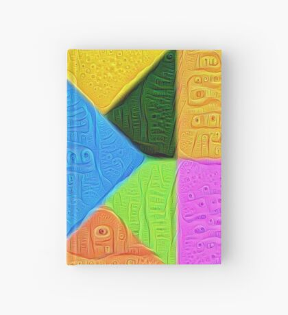 DeepDream Color Squares Visual Areas 5x5K v1447926834 Hardcover Journal