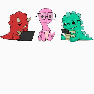 Nerdy Dinos by ScoobyKun