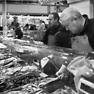 Fishmonger Victoria Markets Melbourne by Andrew  Makowiecki