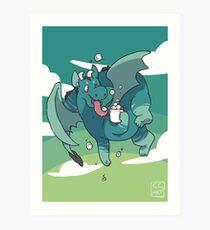 Cocoa Dragon Art Print