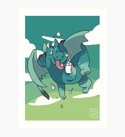 Cocoa Dragon Art Print