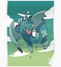 Cocoa Dragon Poster