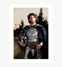 A knight in shining armour  Art Print