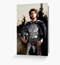 A knight in shining armour  Greeting Card