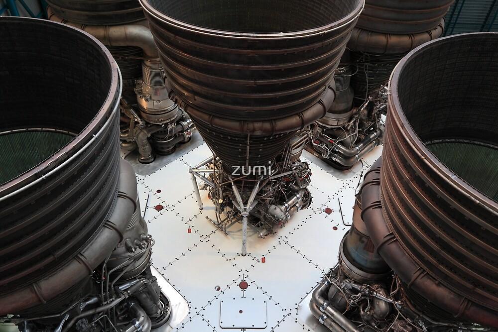 Saturn V engines by zumi