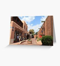 Taos plaza Greeting Card