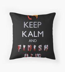 Mortal Kombat - Keep Kalm And Finish Him Throw Pillow