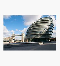 City Hall and Tower Bridge, London, UK Photographic Print