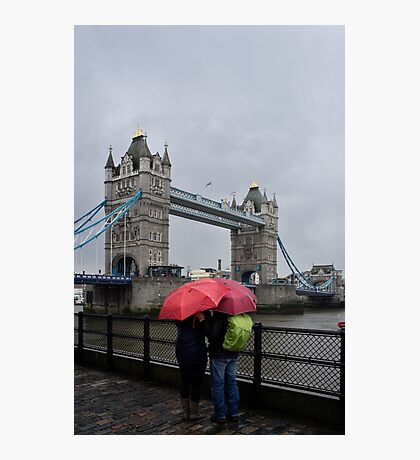 Umbrella admiration - Tower Bridge - London - Britain Photographic Print