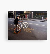 Street Bikes Metal Print