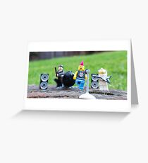 Rock Band Jamming Greeting Card