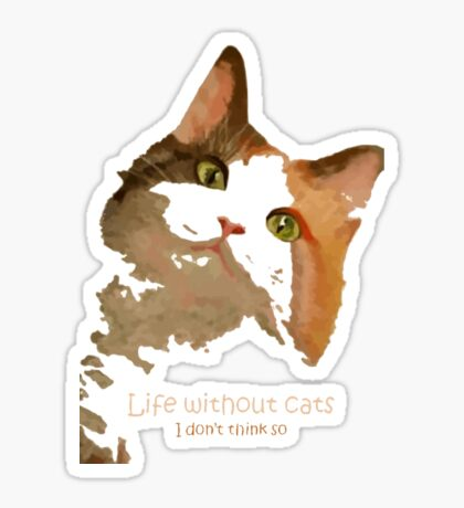 Life Without Cats Vector Sticker