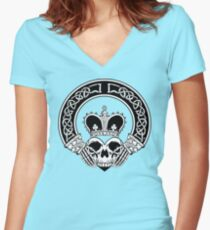 Claddagh (BW edition) Women's Fitted V-Neck T-Shirt