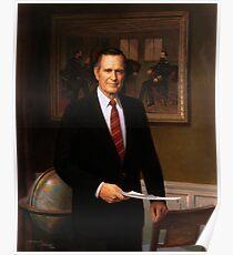 George H. W. Bush Presidential Portrait  Poster