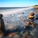 Pile Of Stones On Ryder Beach North Truro MA by Artist Dapixara