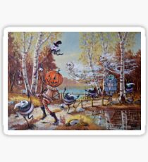 Hallowe'en Comes to Town Sticker