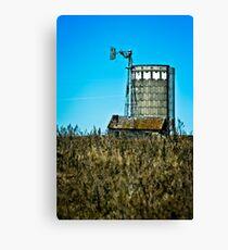abandoned rural farm windmill Canvas Print