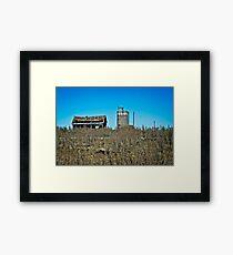 abandoned rural farm homestead Framed Print