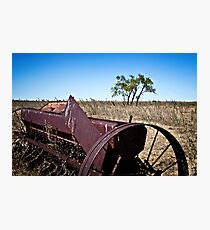 abandoned rural farm equipment Photographic Print