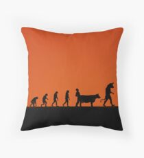 99 Steps of Progress - Mythology Throw Pillow