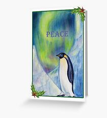 Peace Penguin Greeting Card