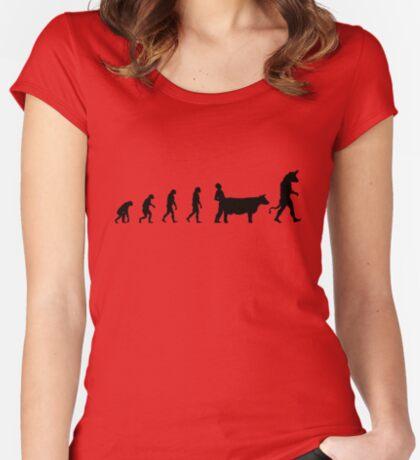 99 Steps of Progress - Mythology Women's Fitted Scoop T-Shirt