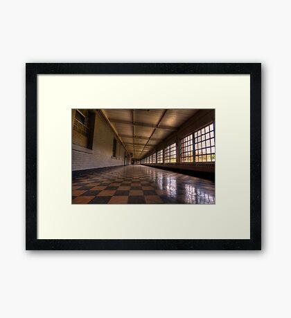 Abandoned Hospital Framed Print