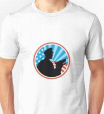 Policeman Security Guard With Police Dog Retro T-Shirt