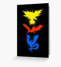 Legendary Bird Splatter Greeting Card
