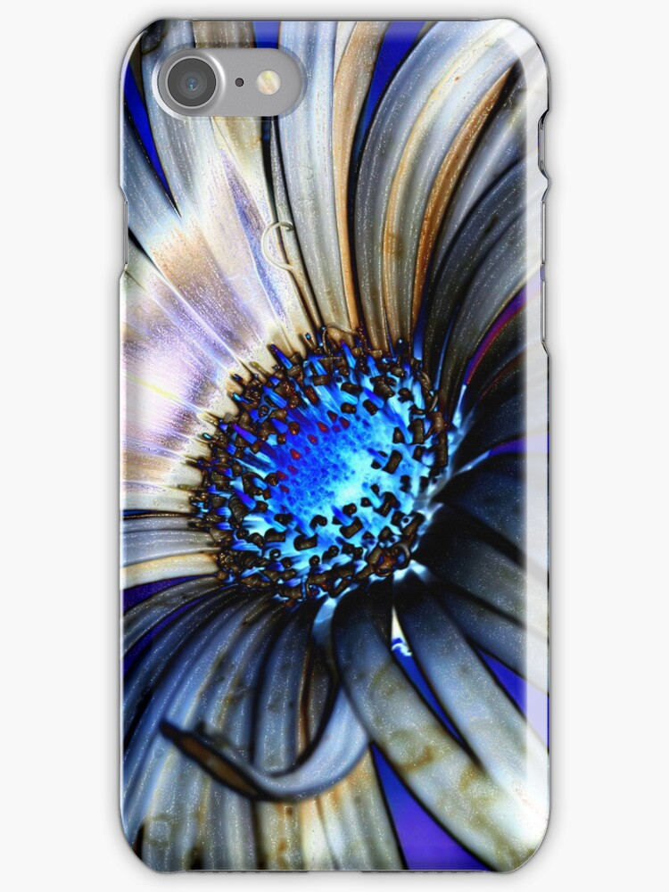 Neon Daisy iPhone Case by Lesley Smitheringale
