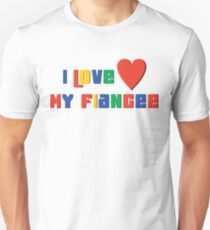 "Engaged ""I Love My Fiancee"" Unisex T-Shirt"