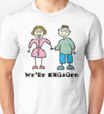 "Cute Engaged Engagement ""We""re Engaged"" T-Shirt"