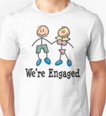 "Engagement Engaged ""We're Engaged"" T-Shirt"