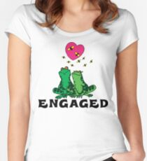 """Funny Engaged """"We're Engaged"""" Women's Fitted Scoop T-Shirt"""