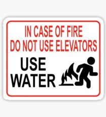 Lustige Feuerwarnung Sticker