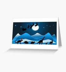 Festive Dinosaur Parade - Snow Joke. Greeting Card