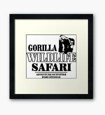 Gorilla Wildlife Safari Framed Print
