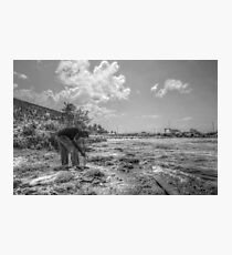 Fishing at Fort Montagu in Nassau, The Bahamas Photographic Print