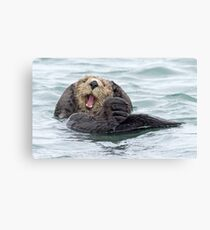 Happiness is a wet otter Canvas Print