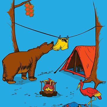 Bear and Bird by robo3687