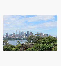 Sydney from Taronga Zoo Photographic Print