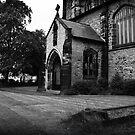 St Albans, West door porch  by David W Bailey