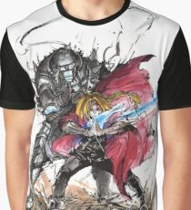 Tribute to Elric Brothers from Fullmetal Alchemist Graphic T-Shirt