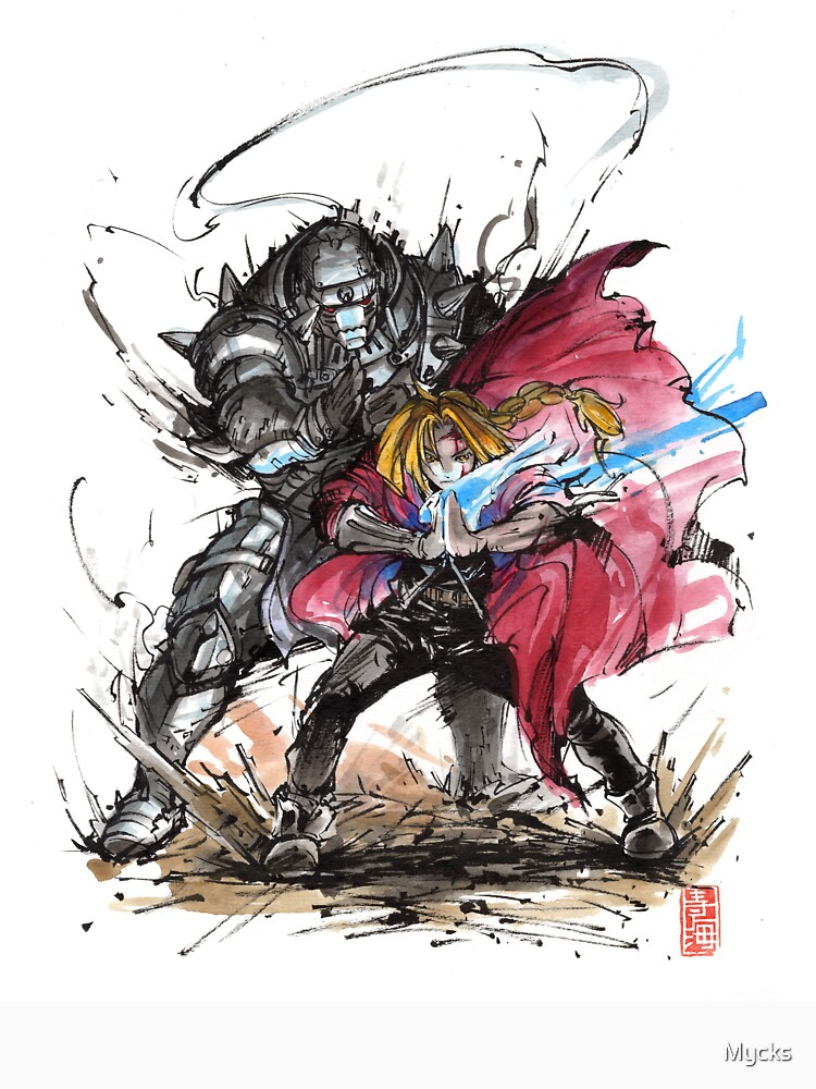 Tribute to Elric Brothers from Fullmetal Alchemist by Mycks