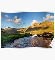 Bundorragha river Delphi Co.Mayo Ireland. Poster